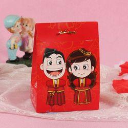 Wedding bride and groom cardboard candy box