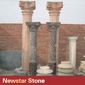 prefabricadas de diseño de piedra de mármol columna romana