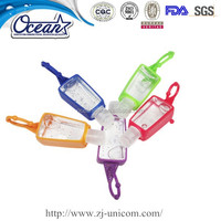 Silicone case for hand sanitizer/hand sanitizer holder for travel/waterless hand sanitizer for kids