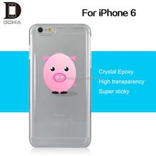 Take hands free custom design cell phone case epoxy gel