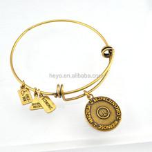 2016 gold bangles adjustable wire bangle bracelet wholesale
