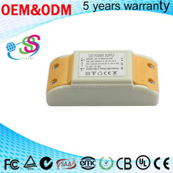 4-7W 320mA leading edge trailing edge dimming triac led driver switching power supply constant current with high pf pass CE EMC