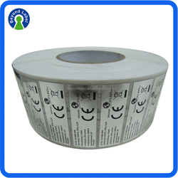 Customised Adhesive Printed Silver Foil Label, Foil Sticker Roll For Label Printing