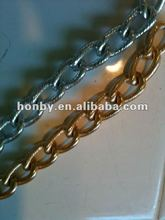 1.0cm brushed finish metallic steel chain