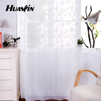 fancy curtains with embroidery,manufacturer in China polyester window curtain