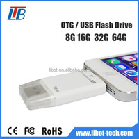 China Factory oem 8GB 16GB 32GB 64GB Convenient otg usb flash drive for iphone with the best price