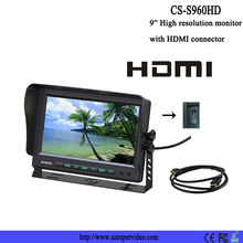9 inch car lcd monitor with hdmi input