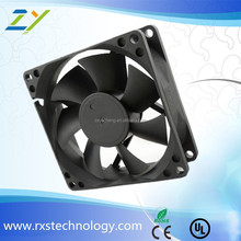 Clear Double Ball Bearing PC Computer Case Fan 8025 3 pin power
