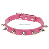 7 Color Choice European Style Personalized Puppy Neck Dog Collar Ring Pet Harness Decorative Rivets Leather Products