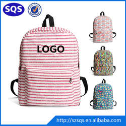 OEM Manufacturer Fashion New Style Girls School Canvas Backpack Bag