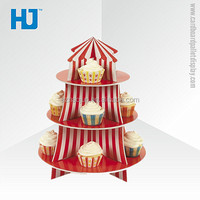 3 Tiers Cardboard Cupcake Stand for Sale Or Children's Party/Cupcake Holder With Can be Customized