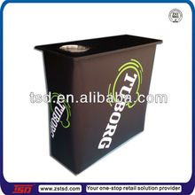 TSD-W256 fast trade show exhibition display/melamine finish folding table for soft drinks/exhibition display table