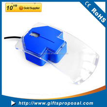 All transparent 3D Wired Multicolor Light Mouse Wired Antistatic Small Computer ESD Mouse in USB Type