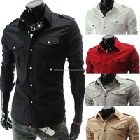 Wholesale checkout instyles Fashion Casual slim fit shirts cheap men t shirts M-2XL