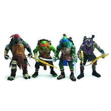 2014 TMNT Teenage Mutant Ninja Turtles Action Figure Set of 4pcs 9cm PVC Doll Toys Collectible