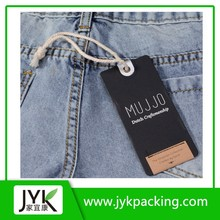 Wholesale custom garment hang tag with eyelet and string