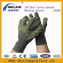 industry foam latex coated gloves 3/4 coated