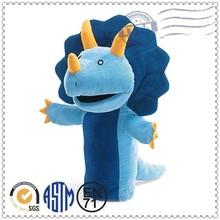 New design lovely hot selling dinosaur hand puppet, plush hand puppet, hand puppet