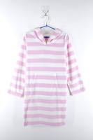 Yarn Dyed Stripe Straight Cute Pink Children Frock