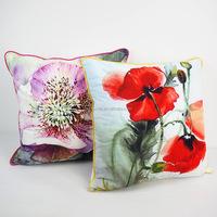 Custom floral print pillow cover thrwo cushions decorative velvet pillow case