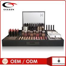 retail store custom acrylic rotating cosmetic nail polish wall display rack