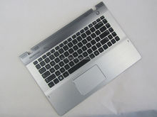 For Samsung NP-QX410 QX411 US keyboard with Frame Plamrest Touchpad US Version