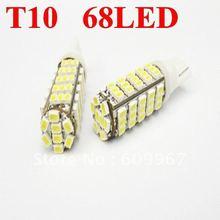 New 168 192 W5W T10 68smd 1206 DC12V White 68LED 1206 SMD LED Car Auto Bulbs LED Signal Lights white super bright