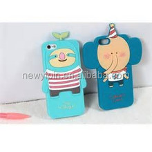2015 Silicone 3D Cute Cartoon Cell Phone Case For Phone