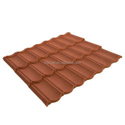 1340*420 mm Longlife Color Stone Coated Metal Roofing Tiles