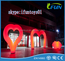 giant inflatable heart with led lights / inflatable lighted heart valentine's day / inflatable hearts with led lights