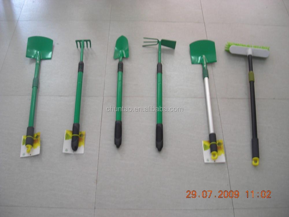 Telescopic handle garden tools hand digging tools for Agriculture garden tools