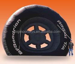outdoor inflatable big tire for sale / inflatable promotion car tire big sale