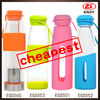 Whoelsale BPA free high quality silicone sleeve glass tea tumbler with infuser