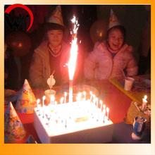fuegos artificiales torta de cumpleaños