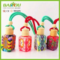 Made in china wholesale hot sale Car air freshener glass bottle