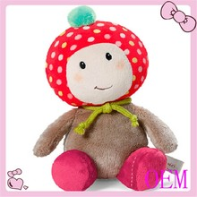 Popular plush baby lovely doll strawberry fabric doll