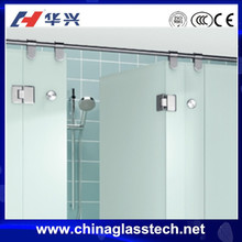 Thermal break /normal aluminum alloy frame Australia standard frosted tempered/toughed glass shower door stained glass