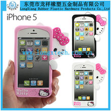 Hot sale 3d silicone phone case,silicon phone case for iphone5