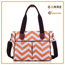 brands personalized Handbag style nylon tote chevron diaper bag
