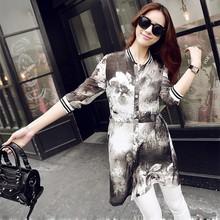 2015 summer China manufacture cheap women clothing wholesale long cool coat baseball flower printed dresses