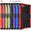 New arrival mobile phone Rugged hybrid hard back cover armor kickstand shockproof case for xperia Z5 compact Z5 mini