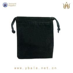 Factory direct black velvet phone bag, cell phone pocket large number of custom suede