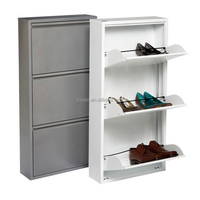 Large Luxury Shoe Cabinet Customized Stainless Steel Shoes Box Style Selections Shoe Drawers Hardware
