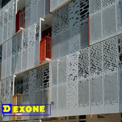 building frontage and face decoration by using aluminum plate and sheets
