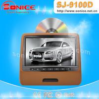 2015 hot buy 9inch Headrest dvd clip-on car LCD monitor SJ-9100D