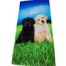 100% Cotton Custom High Quality Reactive Printed Beach Towel