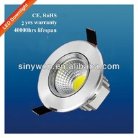 SYW 2013 Epistar Cree Aluminum High Power 3W LED Downlight