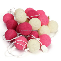 New Arrival 20 Fabric Cotton Ball for 3M String Fairy Lights Xmas Wedding Holiday Party Home Decoration Lamp Bulb