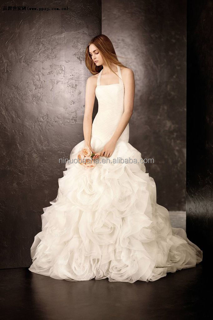 New Model 2014 Ball Gown Wedding Dress Patterns Halter Long Tail ...
