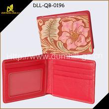 Nice flower embossing lady wallet purse